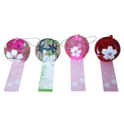 4-piece Pack Hand-painted Japanese Edo Furin Wind Chime Birthday Valentine's Day Gift Home Decors