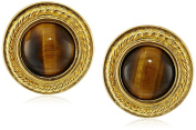 Ben-Amun Jewellery Tiger Eye Clip-On Earrings