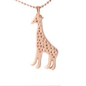 MB Michele Benjamin LLC Jewellery Design Women's 18K Rose Gold Plated Sterling Silver Giraffe Necklace 46cm