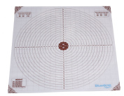 Silicone Large Pastry Mat With Measurements. 50cm x 50cm Non-Slip Sheet Sticks To Countertop For Rolling Dough