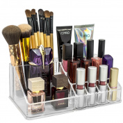 Sorbus® Acrylic Cosmetics Makeup and Jewellery Storage Case Display Top-Glamorous, Space- Saving, Stylish Acrylic Bathroom Organiser