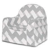 P'Kolino Little Reader Chair, Grey/White