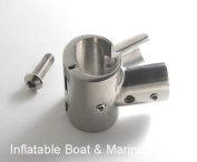 Boat Hand Rail Fitting- 90 Degree T / Tee Hinged / Split - 2.5cm - 316 Marine Stainless Steel