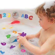 36 X Yonger Bath Letters and Numbers Foam Baby Bath Toy Set Non Toxic Bath Toy Organiser