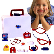 Toy Cubby Pretend Play Dolls 15 Pieces Medical kit and Set -