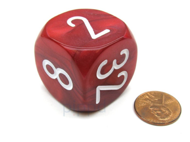 Large Backgammon 30mm Doubling Cube Dice - Red