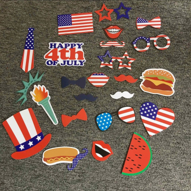 USA-SALES 4 of July Photo Booth Props, Independence Day Party Decorations, by USA-SALES Seller