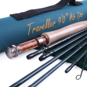 Maxcatch for Traveller 7-piece Fly Rod IM10 Carbon Travel Rod Fly Fishing with Cordura Tube
