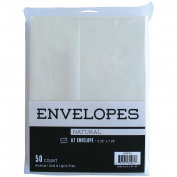 Leader Paper Products Leader A7 Peggable Envelopes (50 Pack), 13cm by 18cm , Natural