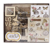 FaCraft Scrapbook Kits,Scrapbooking Starter Kit with PP Page Protecters Pockets