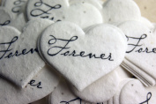 Forever Heart Shape Seed Embedded Cotton Handmade Paper Tags