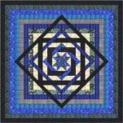 Tumbling Star/Blue and Blacks/Quilt Kit/Queen/EXPEDITED SHIPPING