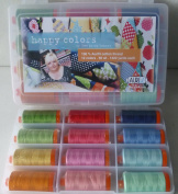 Aurifil Happy Colours Thread Assortment -12 Large Spools - Cotton All Purpose Thread