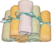 Bamboo Baby Washcloths 7 Pack (Includes 6 for Baby Plus 1 for Mommy) Super Soft, Bamboo Washcloths. Adults Love Them Too! Provided to you from Josh and Jill Baby Shoppe.