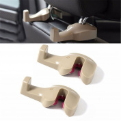 Denshine® 2 x Convenient Auto Car Vehicle Seat Hanger Holder Hook Bag Coat Organiser