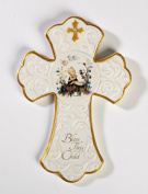Hummel Bless This Child Baptism Porcelain Wall Cross