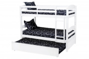Million Dollar Baby Kids' Bailey Bunk Bed Trundle, White
