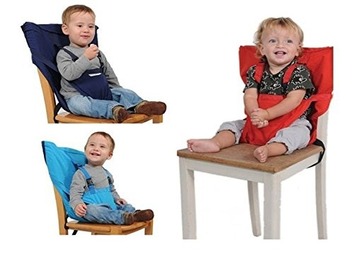 2be2335cac2 Portable Travel High Chair Booster Baby Seat with Straps Washable ...