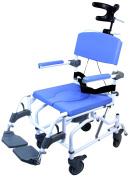 Healthline Medical Products MPU190 Tilt Shower Commode Chair, Blue