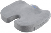 Seat Cushion Pain Relief for Coccyx, Tailbone, Haemorrhoids, Sciatica & Sacrum - Perfect Fit Wheelchair Cushion, Pad, Pillow - Grey