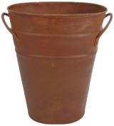 Craft Outlet Oval Rustic Bucket Container, 18cm