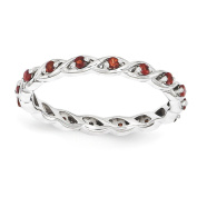 Top 10 Jewellery Gift Sterling Silver Stackable Expressions Garnet Ring