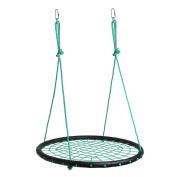 IMAGE Spider Web Swing Tree swing Net Swing Platform Rope swing Nylon Rope detachable 100cm diameter with carabiners Adjustable hanging ropes