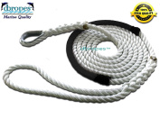 3 Strand Mooring Pendant Nylon Rope Line 0.2m X 3.7m with Chafe Guard and Thimble