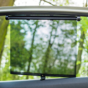2 PACK Car Window Roller Shade Shield Blind (XL Size
