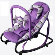 Great Gift ! Unisex Baby Rocker Floor Bouncer Chair - Purple / Baby Toy Game Play Infant Toddler Kids Child Boys Girls Cool Unique Special Activity Educational Learning Smart Development Intelligence Motoric Friends Present Outdoor Indoor Room Developm ..