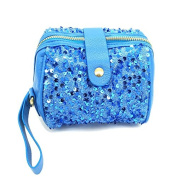 Warm Girl Women's Clutch Party Evening Sequins Glitter Spangle Clutches Bag Shoulder Bags Blue