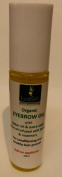Eyebrow conditioning oil with organic castor oil, olive oil, laurel and rosemary - in roll on applicator 10ml