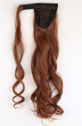 "Hot Fashion Wrap Around Ponytail 17""/43cm Clip in Hair Extensions Light Auburn"