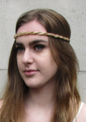 Gold Plaited Chain Headband Festival Boho Elasticated Vintage Braid Hair 4AG *EXCLUSIVELY SOLD BY STARCROSSED BEAUTY*