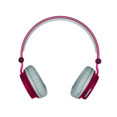 KitSound KSMERD Metro Bluetooth Wireless Wi-Fi Headphones in Red for Smartphones
