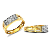 9ct Yellow Gold Clear Stone Childs Ring