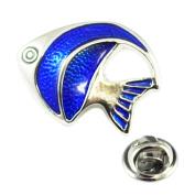 Blue Tropical Fish Lapel Pin Badge