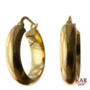 14-KARAT GOLD-PLATED STERLING SILVER 925 EARRINGS ITALIAN STYLE. KAB-G5.E