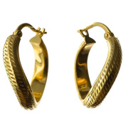 14-KARAT GOLD-PLATED STERLING SILVER 925 EARRINGS ITALIAN STYLE. KAB-G6.E