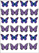 24 Butterflies Premium Rice Paper Cup Cake Toppers