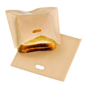 Toaster bags Reusable 100 use Non-Stick Sandwich/Snack Make Cheeze Toasties In a Toaster Grilling Bag, 2 Pack