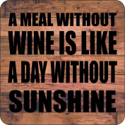 A Meal Without Wine Is Like A Day Without Sunshine Wooden Coaster