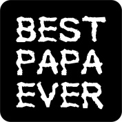 Best Papa Ever Wooden Coaster Father's Day Gift