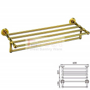 Ownace Gold Bathroom Accessories Double Towel Shelf Towel Rack Chrome Brass