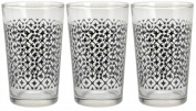 Set of 3 Eye Catching drinking glasses tumblers for Water Juice Tumblers Set