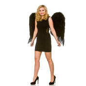 Deluxe Large Black Feather Wings Halloween Accessory
