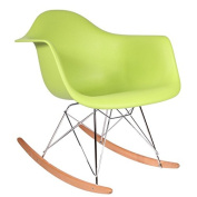 Eames Rocking Chair - Green, Natural