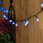 5m 50 LED Solar Powered Outdoor Fairy Lights with Timer and Multi Function by Festive Lights