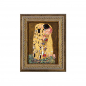 """Goebel 66534637 Wall Picture with Design """"The Kiss"""" by Gustav Klimt"""