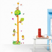 Monkey tree height measure wall sticker for kids nursery room or living room